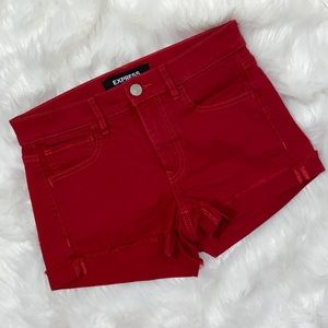 EXPRESS Supersoft mid rise shortie RED 4